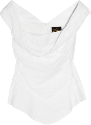 Vivienne Westwood Marghi broderie anglaise top