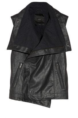 Veda Maxine metallic-finished leather vest