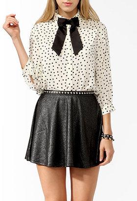 Forever 21 Polka Dot Shirt w/ Bow Tie