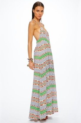 Mara Hoffman Peasant Maxi Dress in Tiger Stripe $249 thestylecure.com