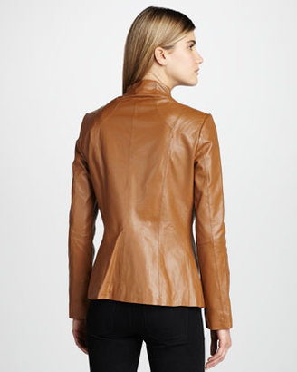 Neiman Marcus Leather Scuba Jacket