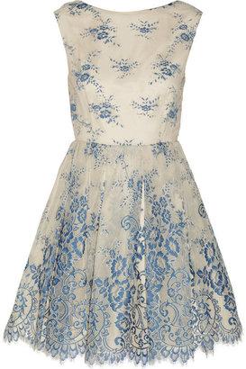 Alice + Olivia Fila embroidered tulle dress