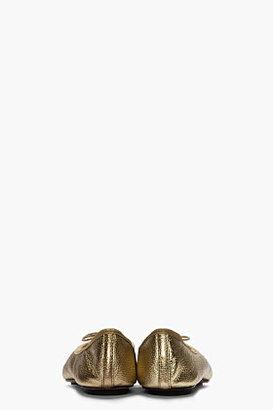 Repetto Metallic Gold Bolchoi ballerina flats