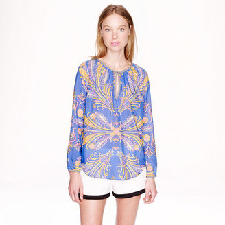 J.Crew Feather paisley top