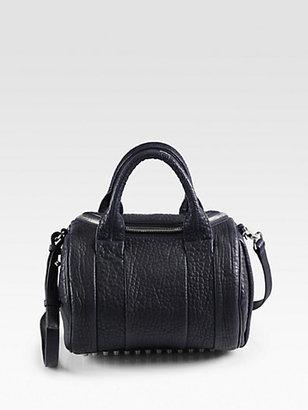 Alexander Wang Rockie Dumbo Leather Satchel