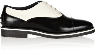 Tod's No_Code Calf hair and polished-leather brogues