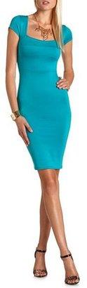 Charlotte Russe Scuba Body-Con Midi Dress