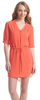 Amy Byer A Byer A. Byer Tie Waist Tunic Dress