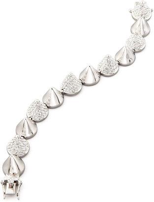 Eddie Borgo Alternating Pave Cone Bracelet, Silver-Plated