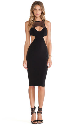 Nookie Stiletto Mesh Cutout Dress