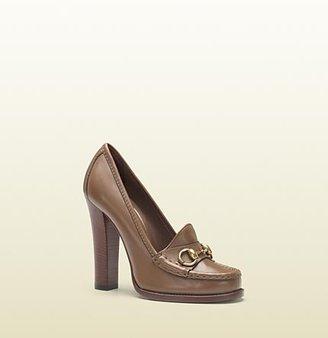 Gucci Alyssa Maple Brown High-Heel Loafer
