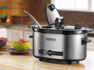 KitchenAid 6-qt. Slow Cooker with Flip Lid, Stainless