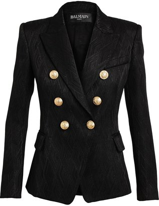 Balmain woven double breasted blazer