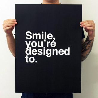 Fab Smile, You're Designed To. White