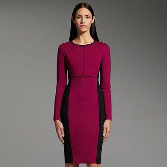 Narciso Rodriguez for designation colorblock ponte sheath dress