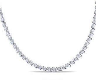 HBC CONCERTO Sterling Silver Strand Necklace with 0.525 TCW Diamonds