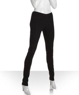 BCBGMAXAZRIA black wool woven legging pants