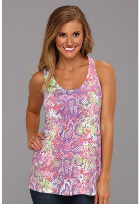 Roper Jersey Knit Tank Top Snake Print (Purple) - Apparel