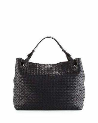 Bottega Veneta Medium Intrecciato Shoulder Bag, Black $2,650 thestylecure.com