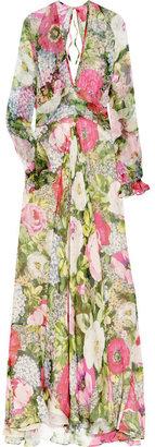 Paul & Joe Osmose floral-print silk-chiffon gown