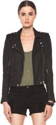 IRO Ashville Leather Moto Jacket in Black