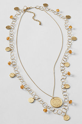Lands' End Women's Coin Charm Necklace