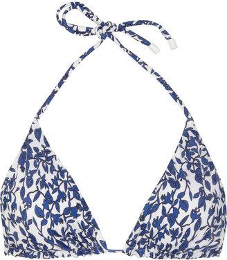 Diane von Furstenberg Deianira floral-print triangle bikini top