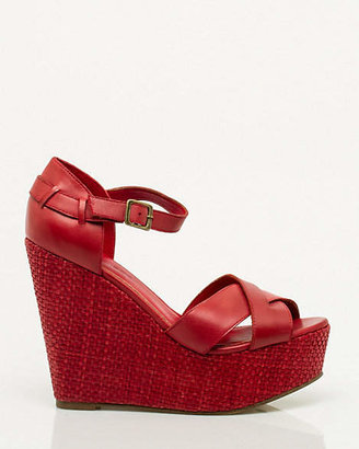 Le Château Leather Strappy Wedge Sandal