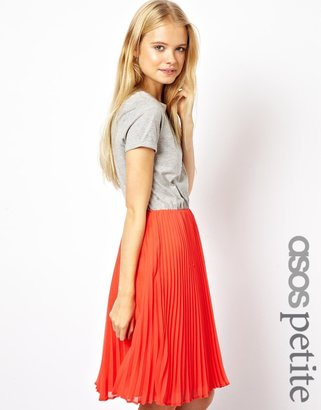 Asos Exclusive Midi Dress in Contrast Fabric