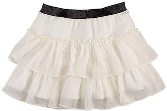 Ralph Lauren Girls 7-16 Tiered Chiffon Skirt