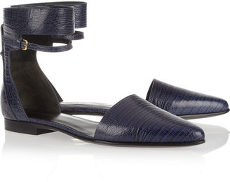 Alexander Wang Elsa croc-effect leather flat sandals