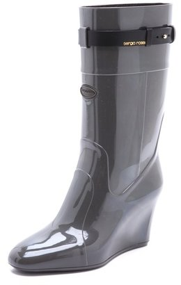Sergio Rossi Rubber Wedged Boots