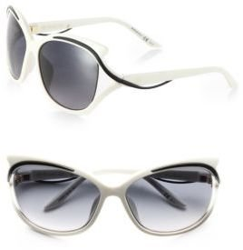 Christian Dior Oversized Swirled-Temple Sunglasses