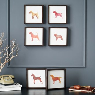 west elm Dog Print Wall Art - Terrier