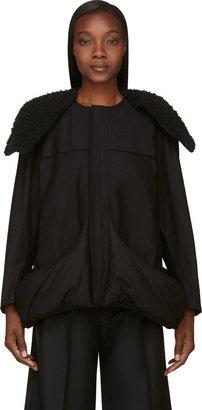 Yohji Yamamoto Black Insulated Pocket Coat $3,250 thestylecure.com