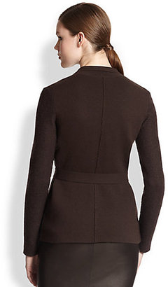 Akris Belted Cashmere & Mohair Cardigan