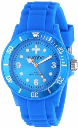 RumbaTime Unisex 12542 Perry Silicone Band 38MM Azul Modern Stylish Analog Watch