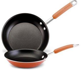 Rachael Ray Orange Nonstick Skillet Set