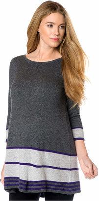 Design History Maternity Striped Peplum Tunic Sweater $128 thestylecure.com