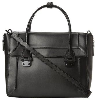 BCBGMAXAZRIA Harper Satchel (Black) - Bags and Luggage
