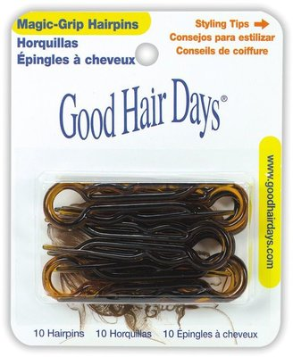Good Hair Days Tortoise Shell Magic Grip Hairpins $3.99 thestylecure.com