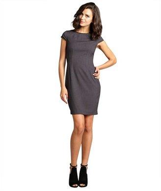 Tahari charcoal melange cap sleeve 'Angie' dress