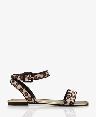 Forever 21 Metal-Trimmed Leopard Print Sandals