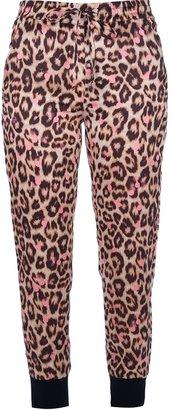 Sonia Rykiel Sonia By drawstring leopard print trouser