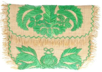 Anya Hindmarch woven embroidered clutch