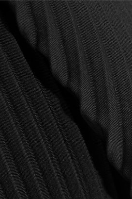 J.W.Anderson Asymmetric pleated stretch-wool skirt