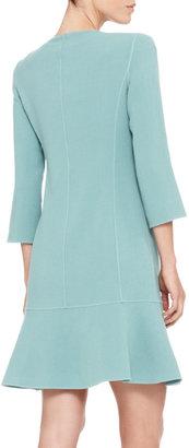 Armani Collezioni Double-Face Crepe Dress Coat