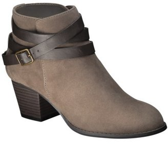 Mossimo Women's Kiriana Ankle Boot with Strap - Brown