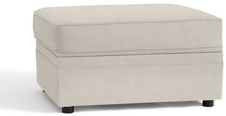 Pottery Barn Pearce Upholstered Storage Ottoman - everydaysuede &