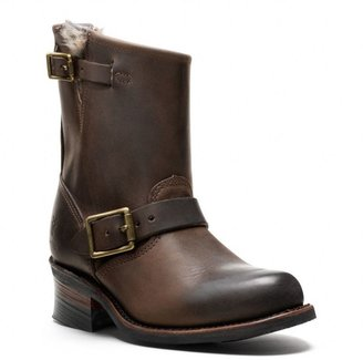 Frye For Coach Fur Lined Engineer Boot